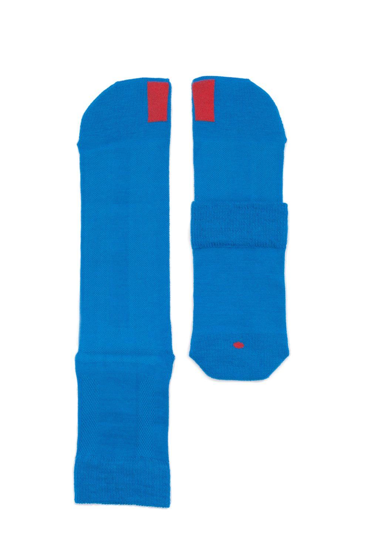 plus12socks Socken blau aufgelegt